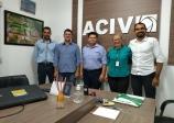 ACIV recebe visita do Presidente da Associação Comercial de Cerejeiras
