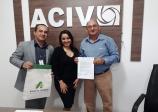 ACIV recebe visita do gerente do Banco BASA