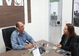 ACIV recebe visita de representante da FGV - Fundação Getúlio Vargas