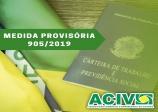 MEDIDA PROVISÓRIA 905/2019