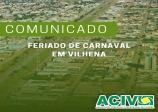 COMUNICADO: FERIADO CARNAVAL
