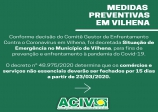 COMUNICADO ACIV  COVID-19 SUSPENSÃO DAS ATIVIDADES