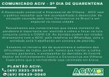 COMUNICADO ACIV 3º DIA DE QUARENTENA