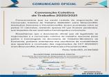 COMUNICADO OFICIAL CONVENÇÃO COLETIVA DE TRABALHO 2020/2021