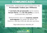 COMUNICADO PROMOÇÃO - ACIV - SICOOB