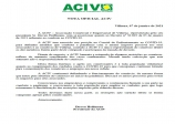 NOTA OFICIAL ACIV - COVID - 19