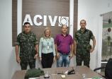 ACIV recebe visita do novo comandante do Tiro de Guerra de Vilhena