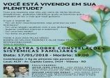 Palestra: CONSTELAÇÕES SISTÊMICAS FAMILIARES