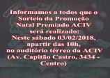Sorteio Promoção Natal Premiado ACIV