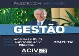 Palestra Gratuita com Mario Gazin